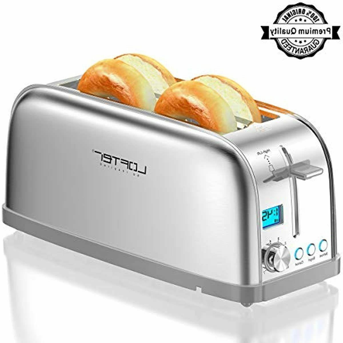 4 slice toaster lofter long slot toasters