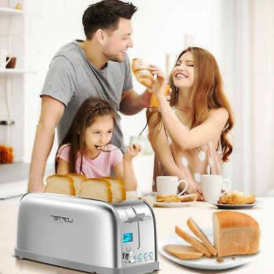 4 Slice Toaster, LOFTer Long Slot Toasters Rated Stainless