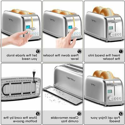 4 Slice Toaster, LOFTer Long Rated Stainless