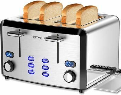 4 slice toaster mirror stainless steel toaster