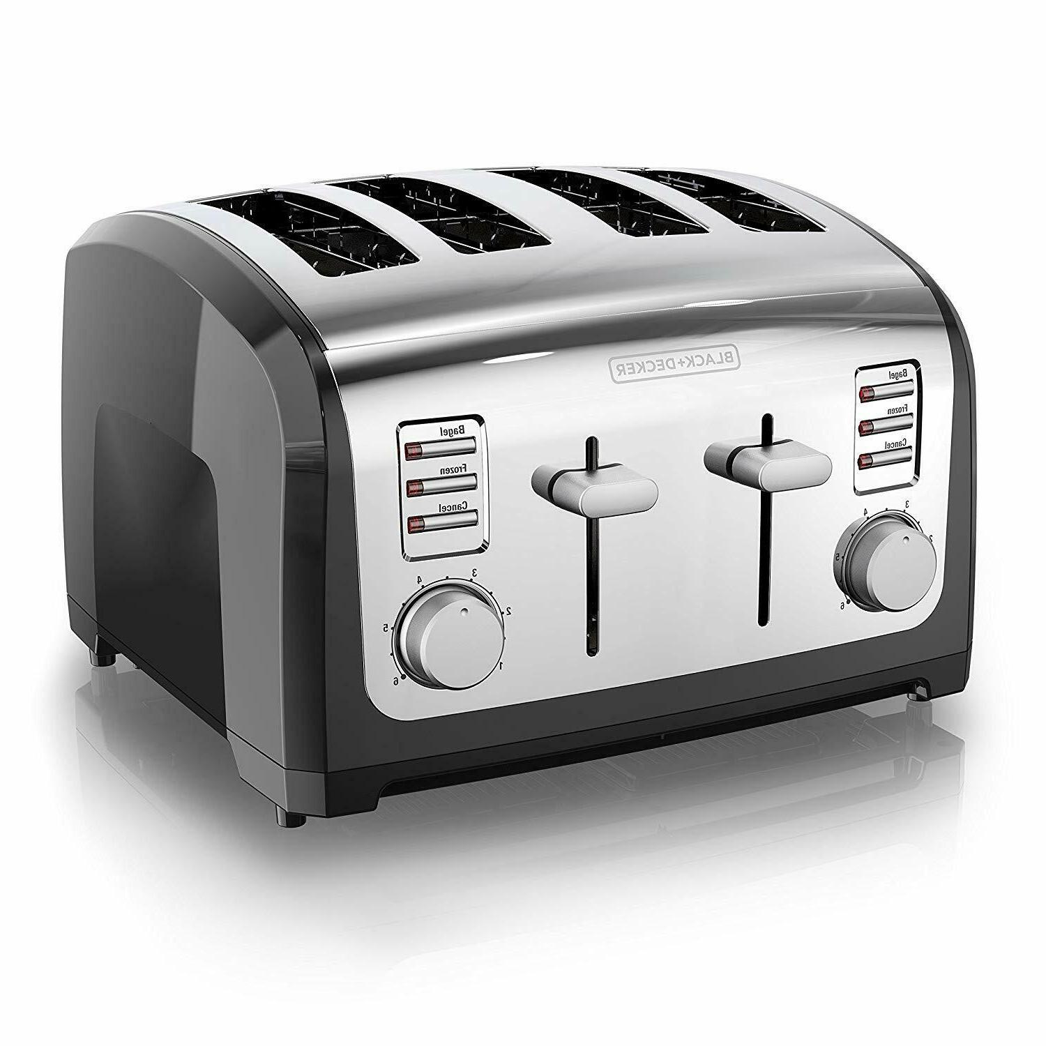 4 slice toaster multi function extra wide