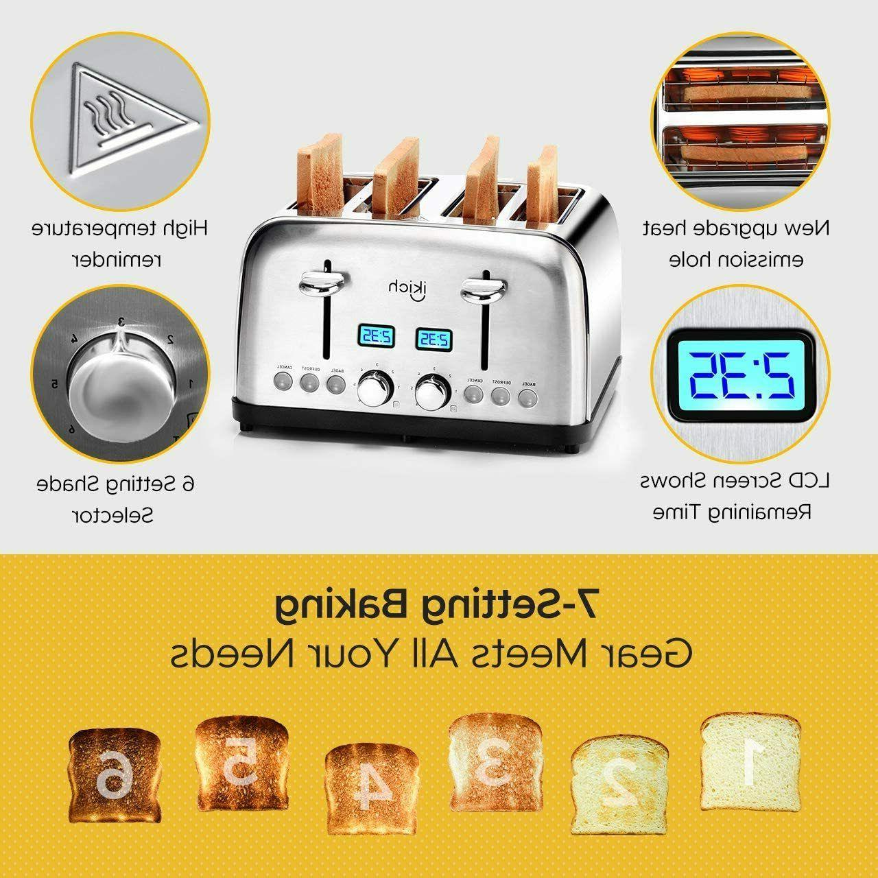 4 Toaster Steel Settings