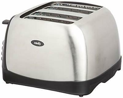 Oster 4-Slice Toaster, Stainless Steel, TSSTTRJBS4