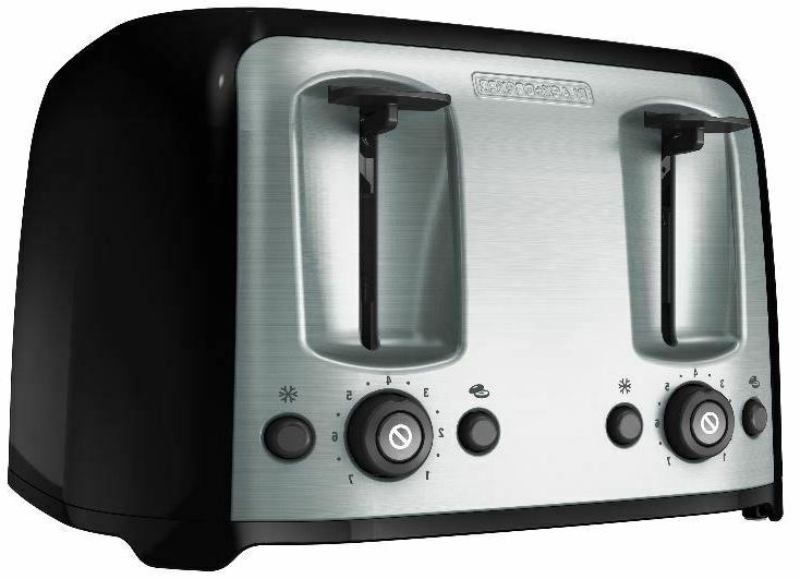 4-Slice Toaster with Slots, Black/Silver, BLACK+DECKER