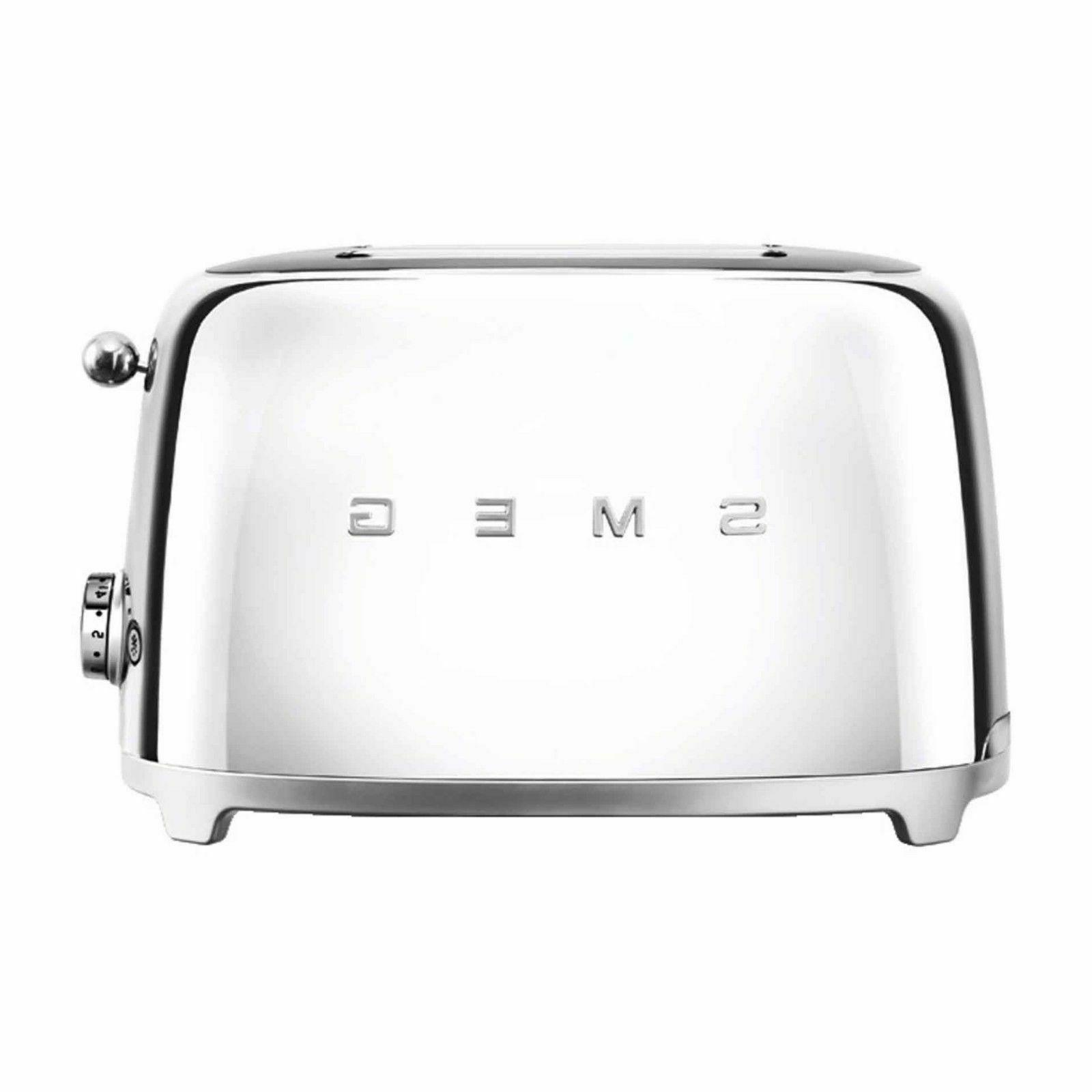 SMEG 50's Retro Style 2-Slice Toaster in Chrome - Brand New!