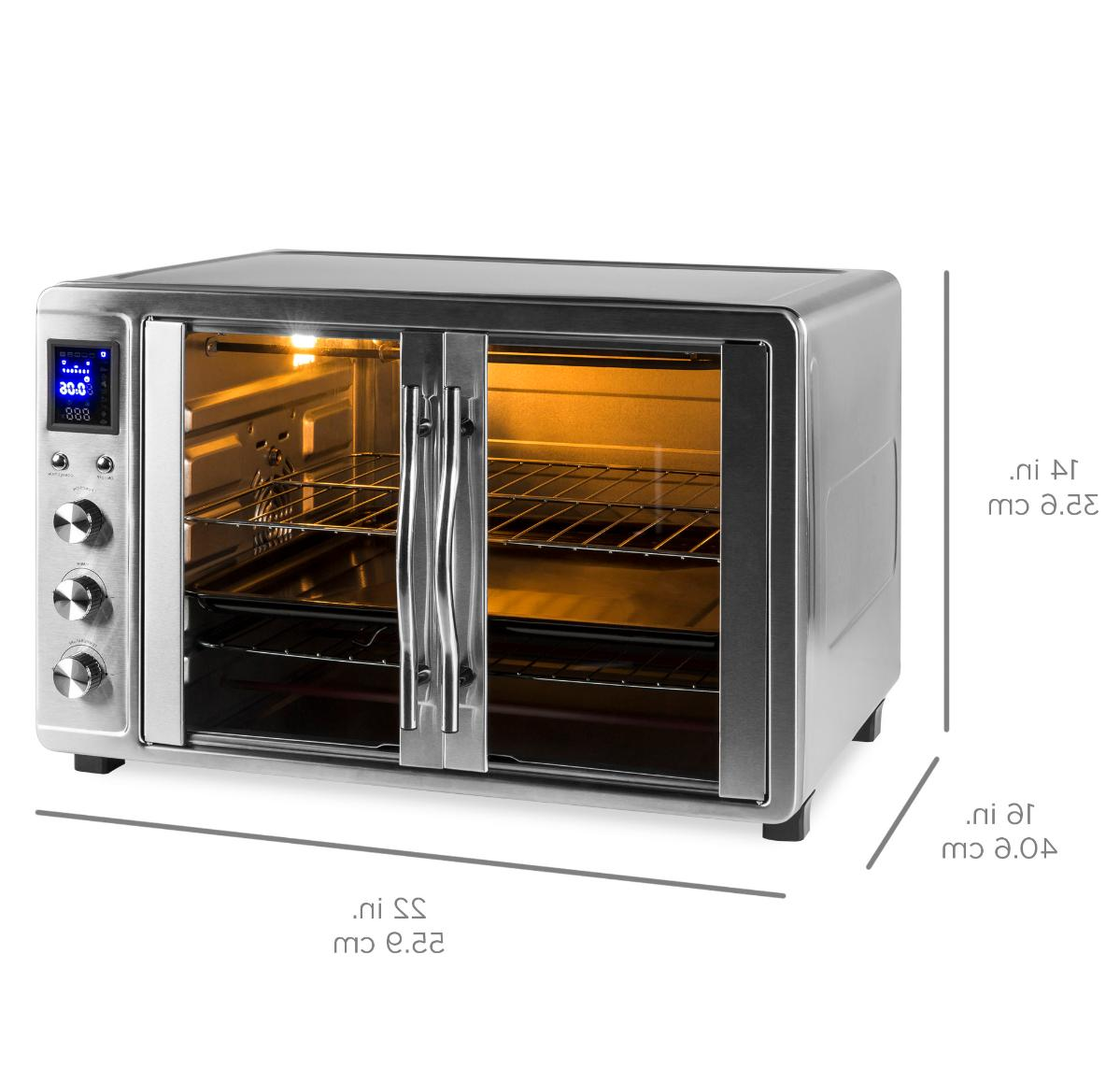 55L 1800W Extra Countertop Convection Toaster Oven w/