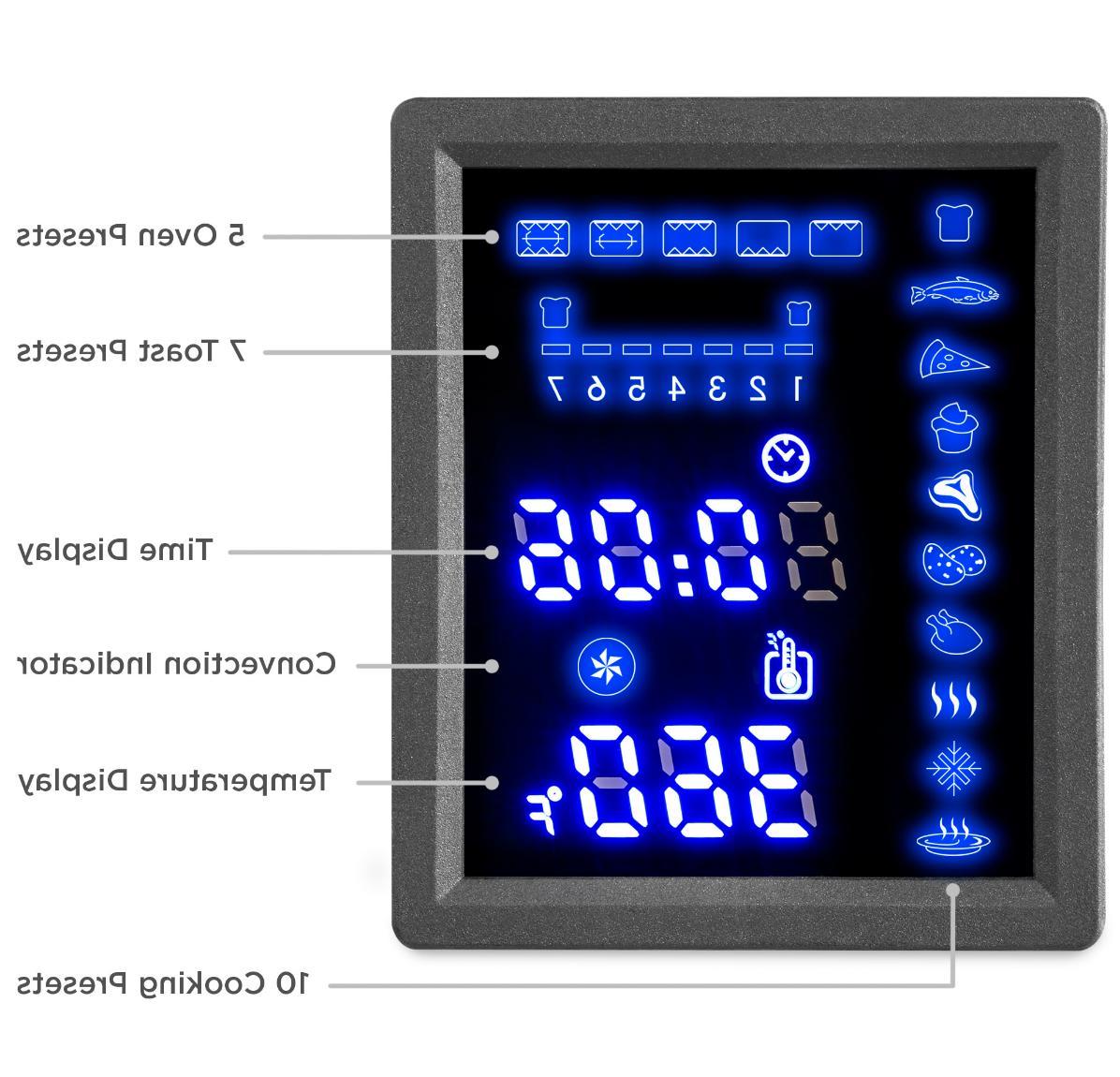 55L Countertop Toaster Oven Doors,