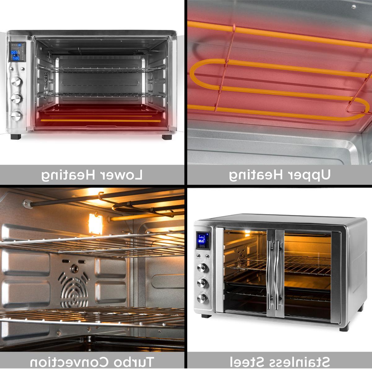 55L Large Countertop Oven Doors,