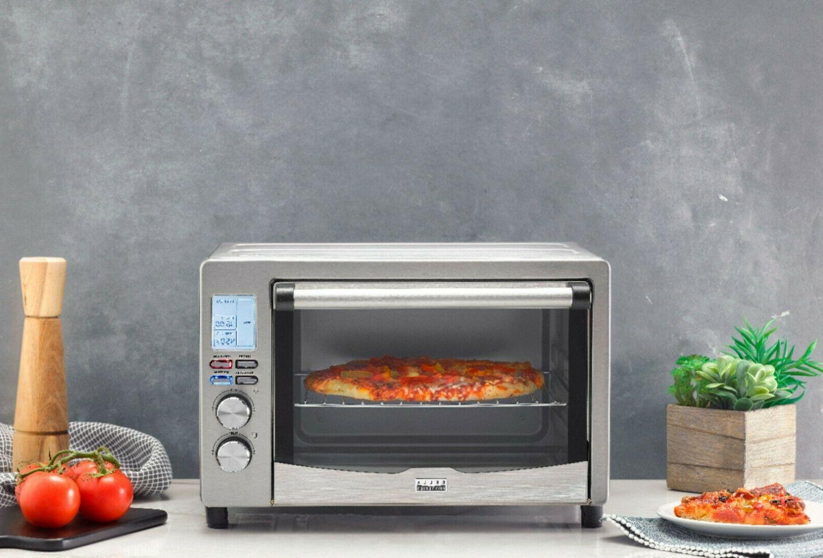 6 Slice 0.8 cu. ft Toaster Oven Stainless Steel 9 Pro Series