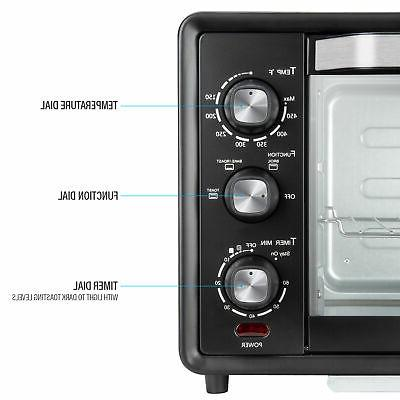 6-Slice Toaster Oven 19L Countertop Pizza