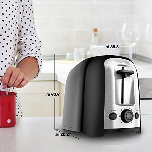 BLACK+DECKER 2-Slice Toaster, Bagel Toaster,