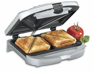 Cuisinart Electric Nonstick Dual Sandwich Maker Grill Toaste
