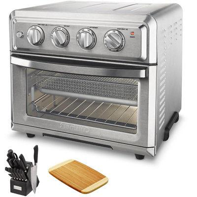 Cuisinart TOA-60 Air Fryer Toaster Oven With Light + Knife S