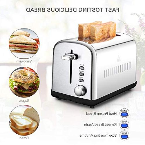 Home Gizmo Toaster Extra-Wide Dials and Crumb Tray, Silver