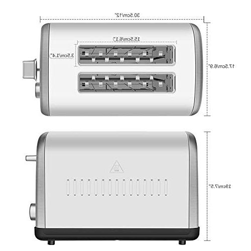 Home Toaster Extra-Wide Browning Dials and Tray, Silver