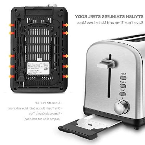 Home Gizmo Toaster Cool with Extra-Wide Dials Silver