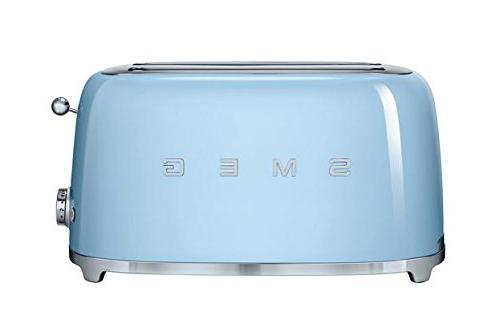 Smeg TSF02PBUS 50's Retro Style Aesthetic 4 Slice Toaster, P