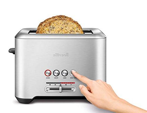 Long Slot 4-Slice Steel Toaster -