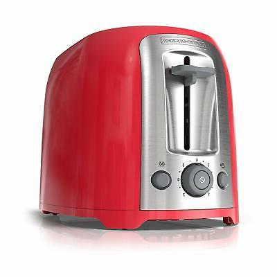 black decker 2 slice toaster red tr1278rm