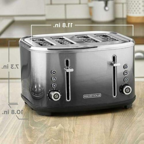 BLACK+DECKER Extra-Wide Toaster, Finish,...