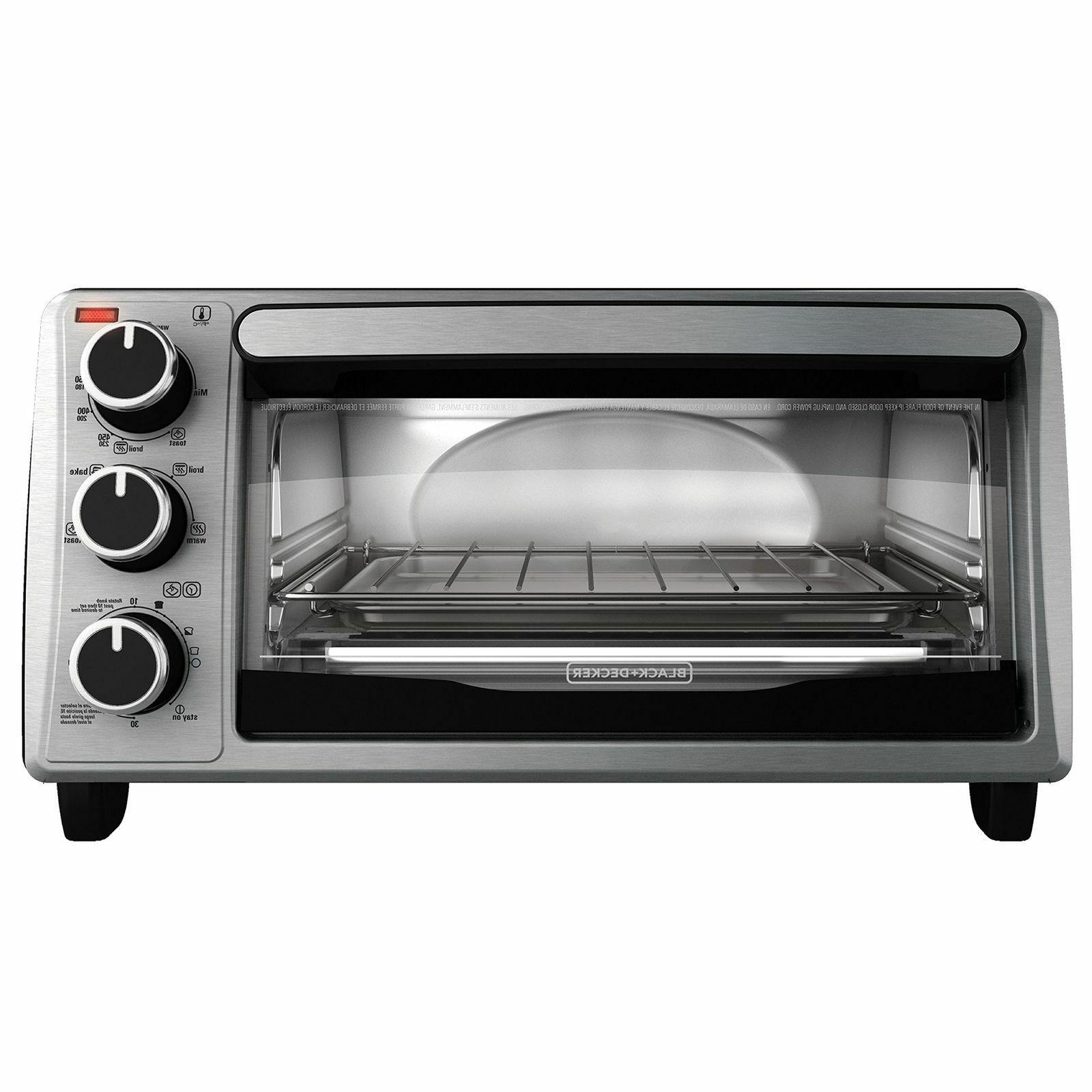 black decker 4 slice toaster oven stainless
