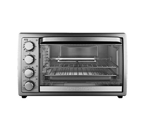 Black Amp Decker 9 Slice Rotisserie Convection Countertop Oven