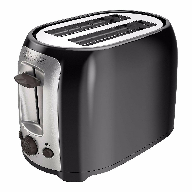 BLACK+DECKER TR1278RM 2-Slice Toaster, black New