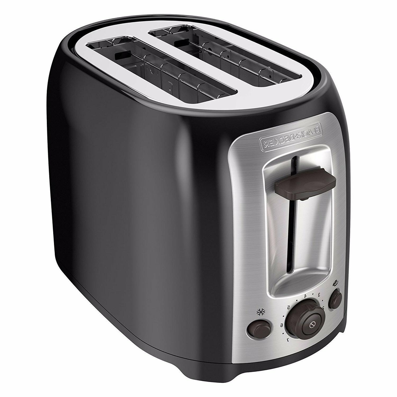 black decker tr1278rm 2 slice toaster black