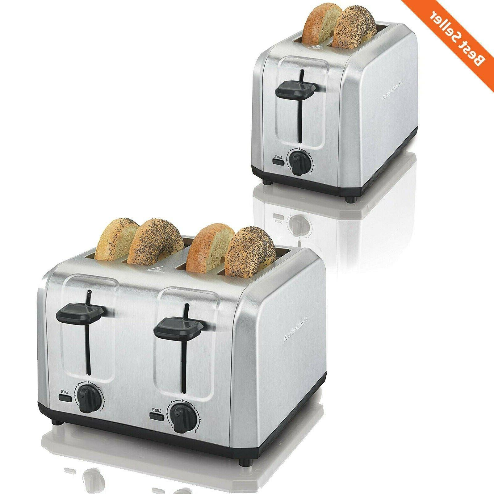 brushed stainless steel 2 4 slice toaster