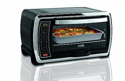 Convection Toaster Oven Countertop Black Polished Stainless