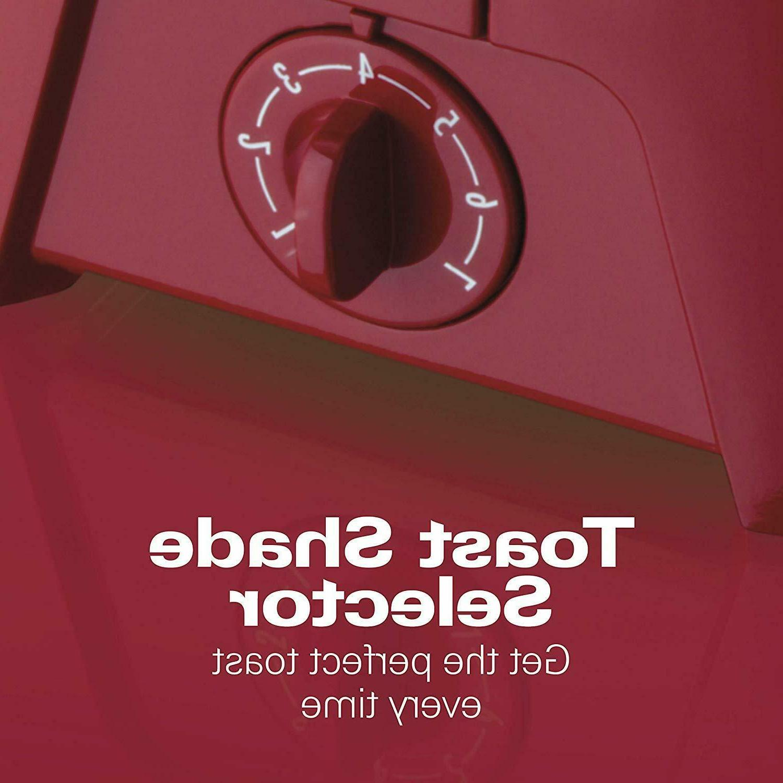 Hamilton Cool 2-Slice Toaster, Chrome & Red