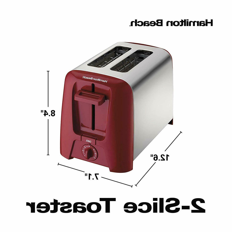 Hamilton Chrome Exterior 2-Slice & Toast Selector