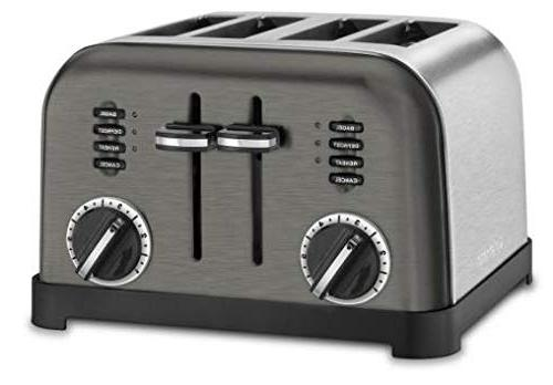 Cuisinart Metal Toaster 4-Slice Black Stainless