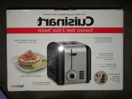 cpt 320 compact stainless 2 slice toaster