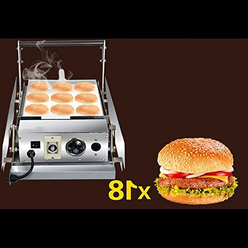 double commercial hamburger toaster stainless