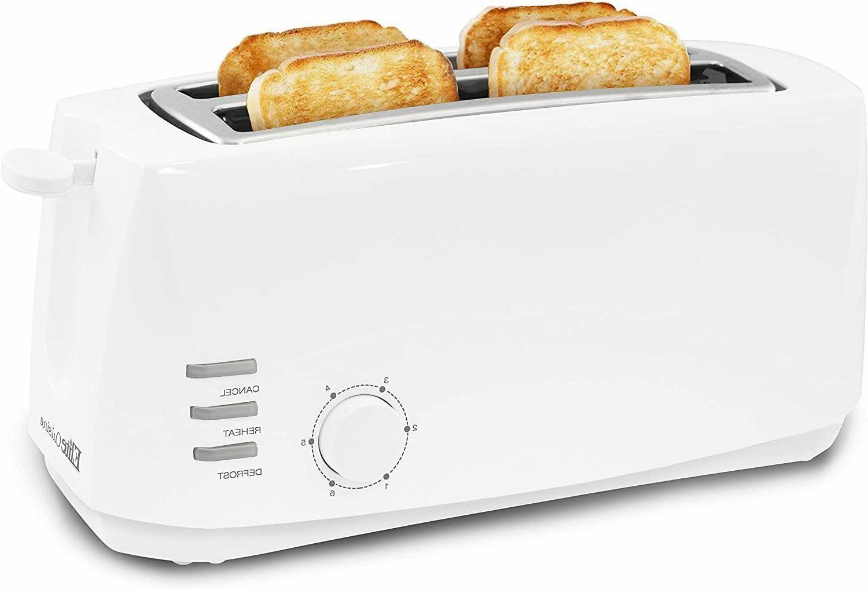 toaster extra wide 4 slice removable slide