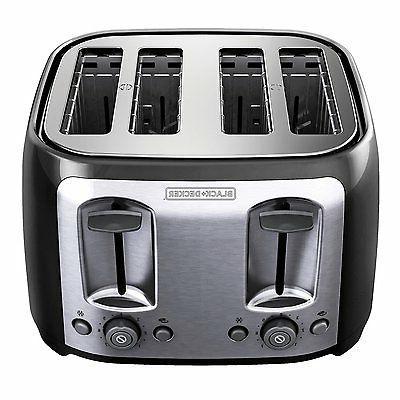 Four Toaster Wide Bun Kitchen Countertop