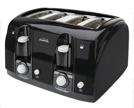 Four Slot Toaster Slice and Steel Removable