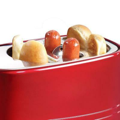 Nostalgia Pop-Up Hot Bun Toaster, With Mini Tongs, W...