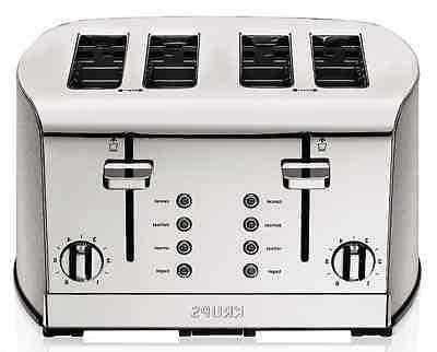Kitchen Toaster Stainless Steel, 4 Slice Bread LED, Bagel Wi