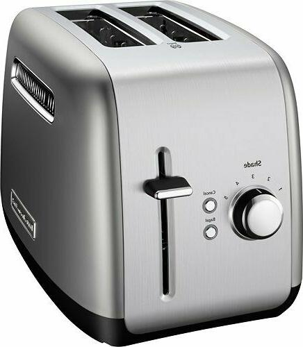 kitchenaid 2 slice toaster brushed stainless steel