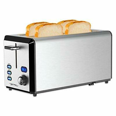 Long Toaster, Slice Best Rated Prime with Display, Stainless