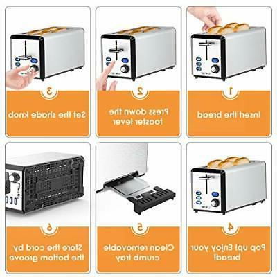 Long Slice Toaster Best Prime Stainless