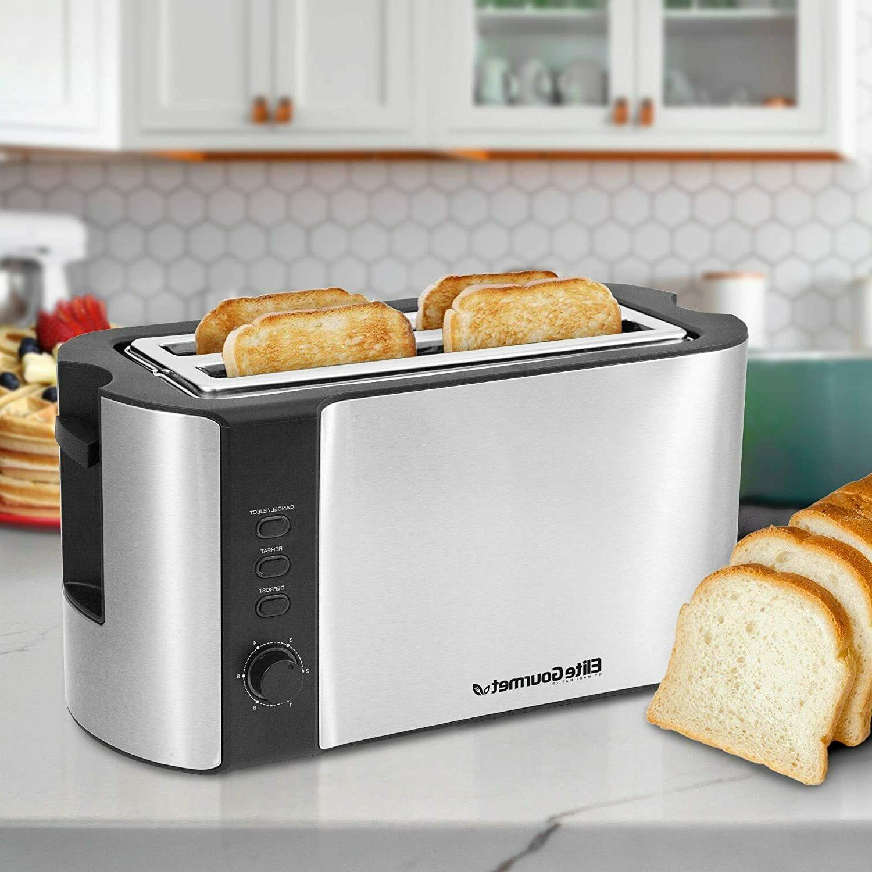 Elite Gourmet Long Toaster Wide Bread