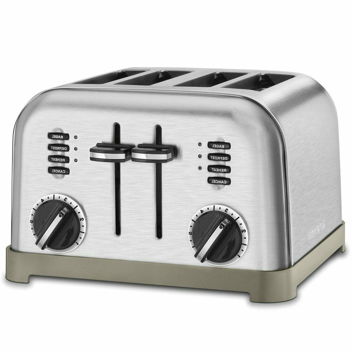 FREE SHIPPING , Cuisinart 4-Slice Stainless Steel Toaster, C