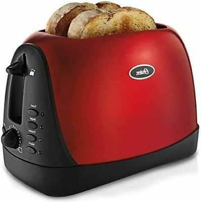 metallic red 2 slice toaster