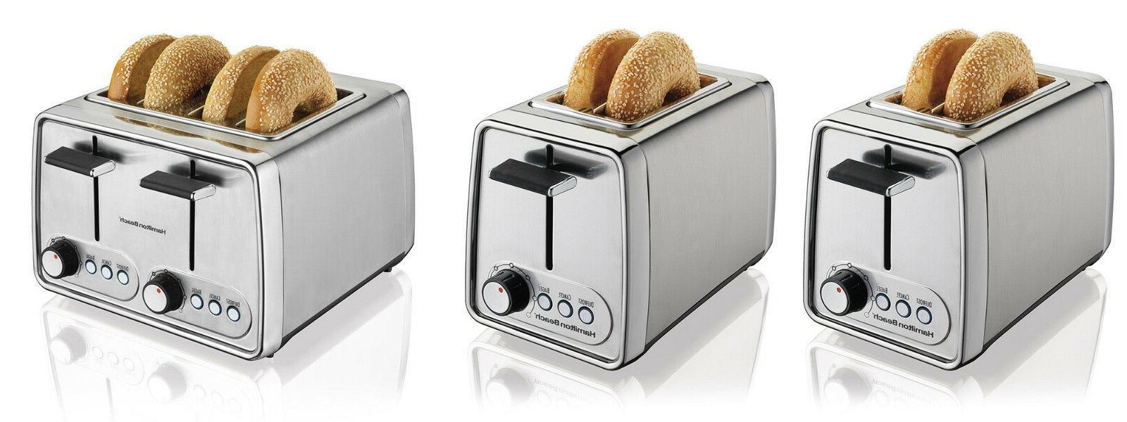 Hamilton Beach Modern Chrome Toaster, 3 Styles