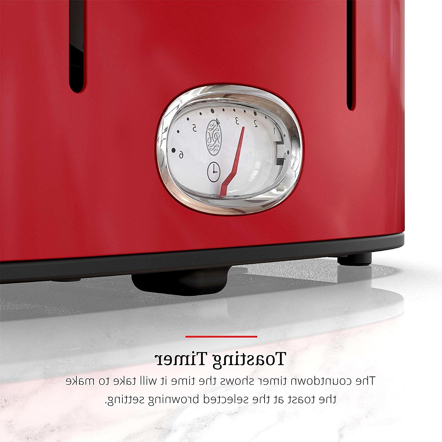 NEW Russell Hobbs 4 Slice Toaster Red Model TR9250ORDR