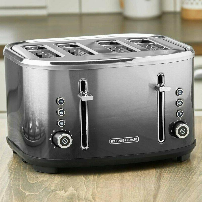 NEW 4-Slice Slot Toaster, Stainless Steel, Ombré