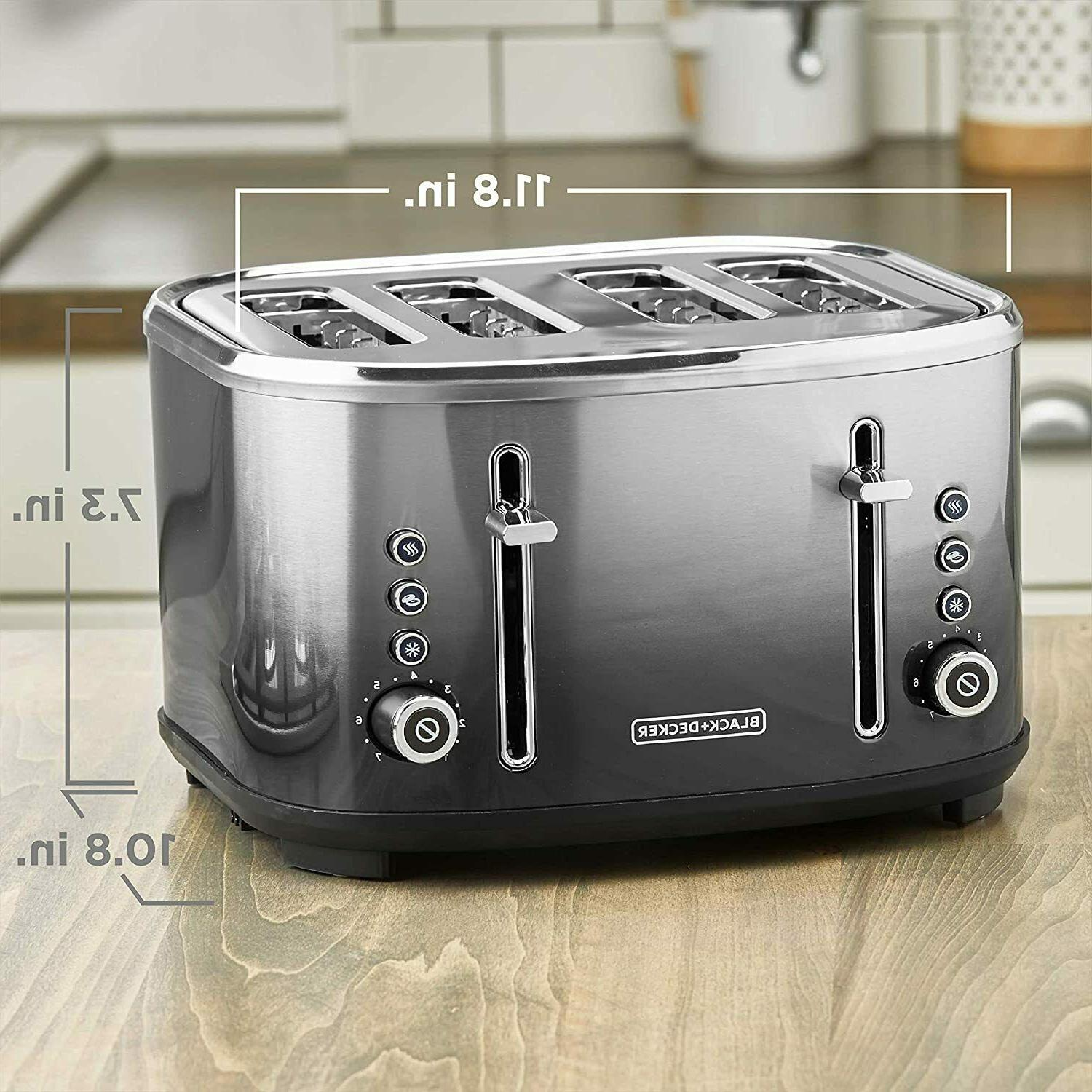 NEW BLACK+DECKER 4-Slice Slot Toaster, Stainless Ombré